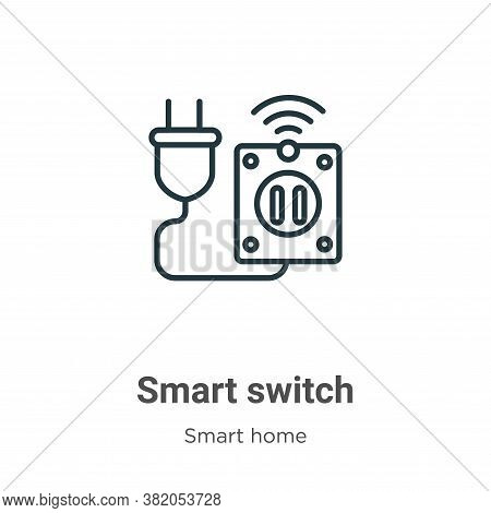Smart switch icon isolated on white background from smart home collection. Smart switch icon trendy