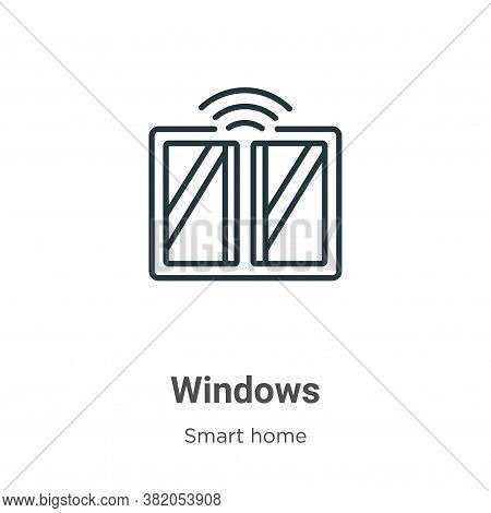 Windows icon isolated on white background from smart home collection. Windows icon trendy and modern