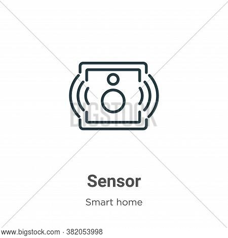 Sensor icon isolated on white background from smart house collection. Sensor icon trendy and modern