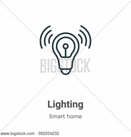 Lighting icon isolated on white background from smart house collection. Lighting icon trendy and mod