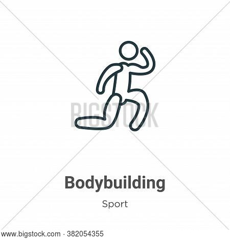 Bodybuilding icon isolated on white background from sport collection. Bodybuilding icon trendy and m