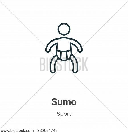 Sumo icon isolated on white background from sport collection. Sumo icon trendy and modern Sumo symbo
