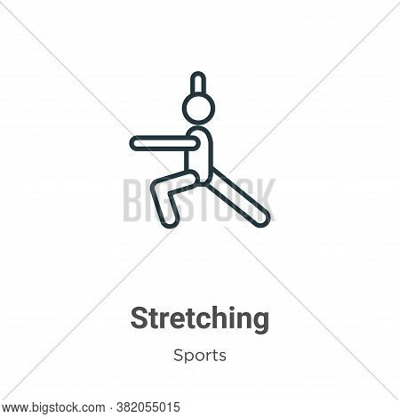 Stretching icon isolated on white background from sports collection. Stretching icon trendy and mode