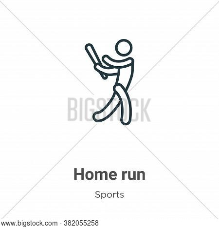 Home run icon isolated on white background from sports collection. Home run icon trendy and modern H