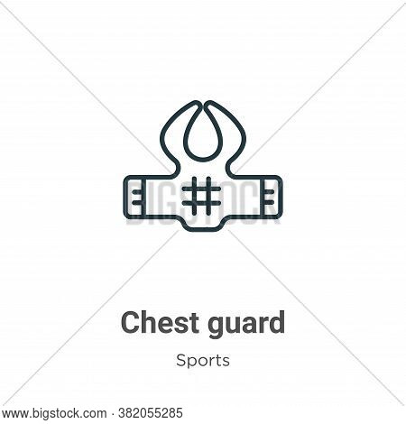 Chest guard icon isolated on white background from sports collection. Chest guard icon trendy and mo