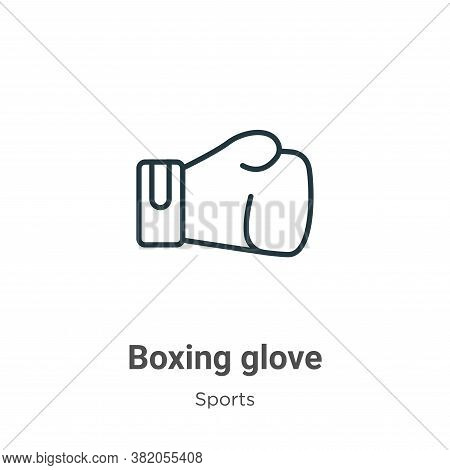 Boxing glove icon isolated on white background from sports collection. Boxing glove icon trendy and
