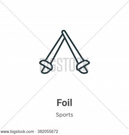 Foil icon isolated on white background from sports collection. Foil icon trendy and modern Foil symb