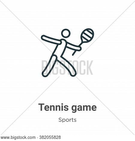 Tennis game icon isolated on white background from sports collection. Tennis game icon trendy and mo