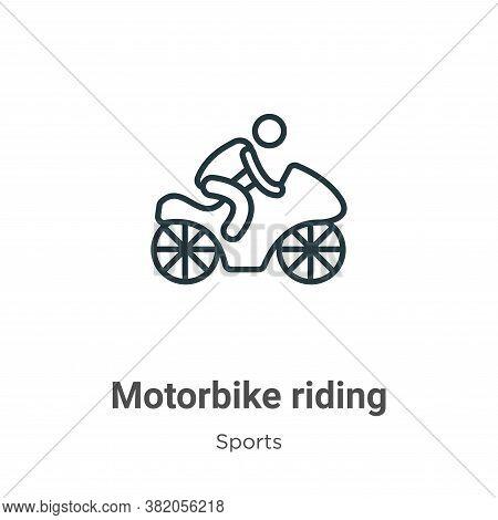 Motorbike riding icon isolated on white background from sports collection. Motorbike riding icon tre