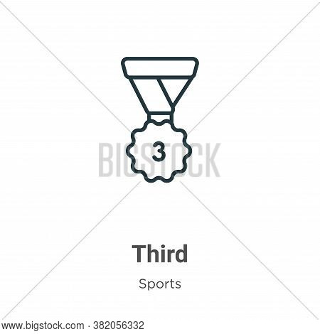 Third icon isolated on white background from sports collection. Third icon trendy and modern Third s