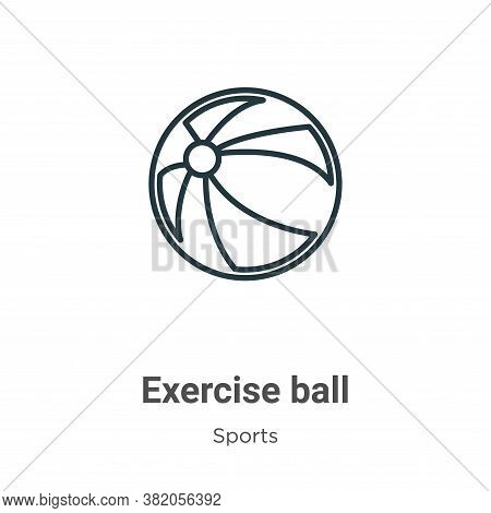 Exercise ball icon isolated on white background from sports collection. Exercise ball icon trendy an