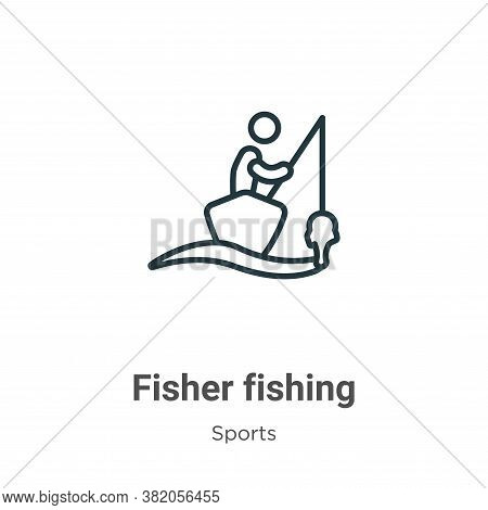Fisher Fishing Icon From Sports Collection Isolated On White Background.