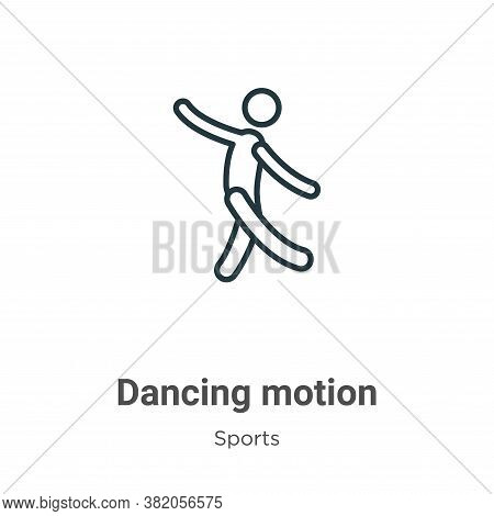 Dancing motion icon isolated on white background from sports collection. Dancing motion icon trendy