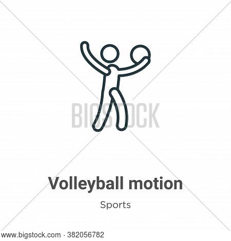 Volleyball motion icon isolated on white background from sports collection. Volleyball motion icon t