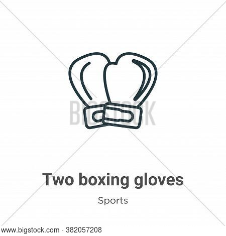 Two boxing gloves icon isolated on white background from sports collection. Two boxing gloves icon t