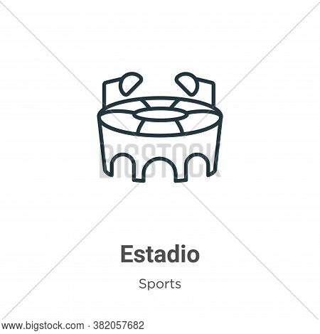 Estadio icon isolated on white background from sports collection. Estadio icon trendy and modern Est