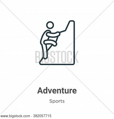 Adventure icon isolated on white background from sports collection. Adventure icon trendy and modern