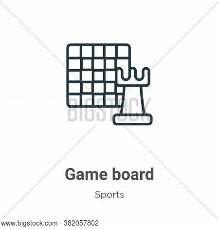 Game board icon isolated on white background from sports collection. Game board icon trendy and mode
