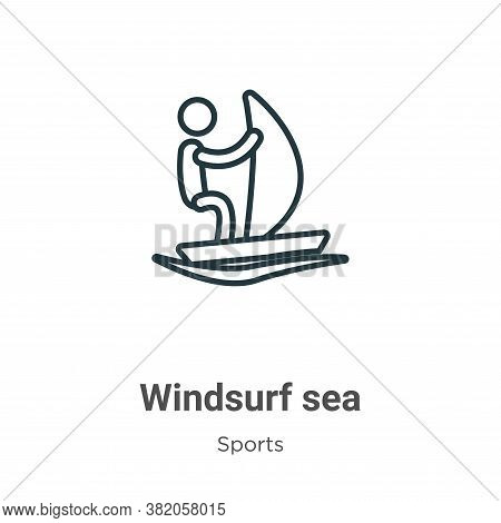 Windsurf sea icon isolated on white background from sports collection. Windsurf sea icon trendy and