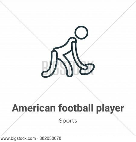 American football player icon isolated on white background from sports collection. American football