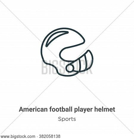 American football player helmet icon isolated on white background from sports collection. American f