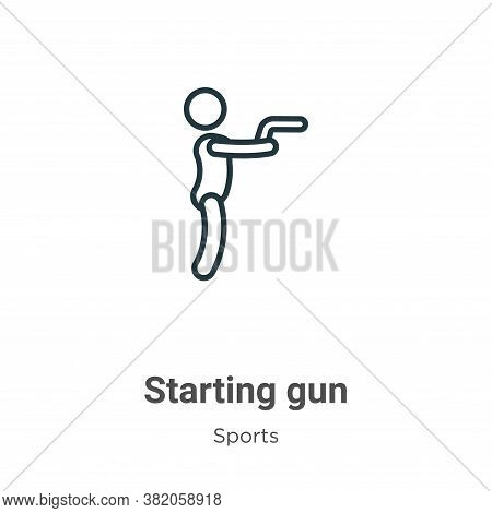 Starting gun icon isolated on white background from sports and competition collection. Starting gun