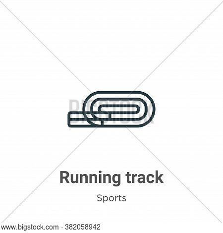 Running track icon isolated on white background from sports and competition collection. Running trac
