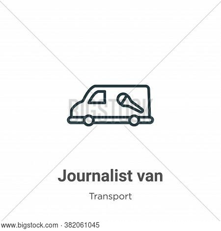 Journalist Van Icon From Transport Collection Isolated On White Background.