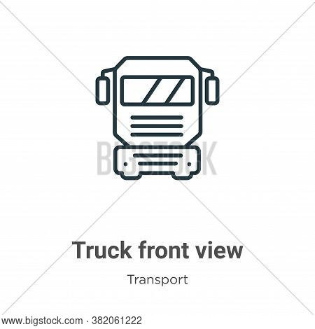 Truck front view icon isolated on white background from transport collection. Truck front view icon