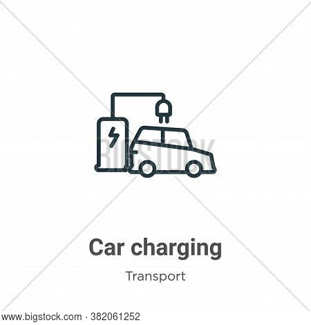 Car charging icon isolated on white background from transport collection. Car charging icon trendy a