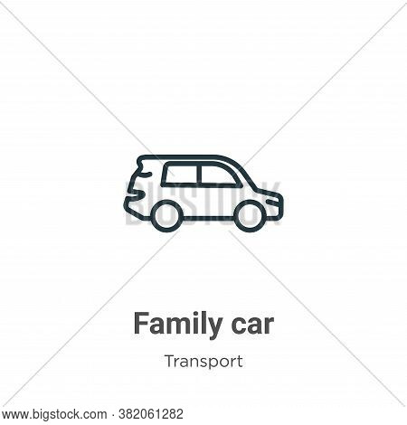 Family car icon isolated on white background from transport collection. Family car icon trendy and m