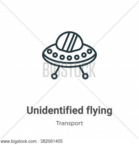 Unidentified flying icon isolated on white background from transport collection. Unidentified flying