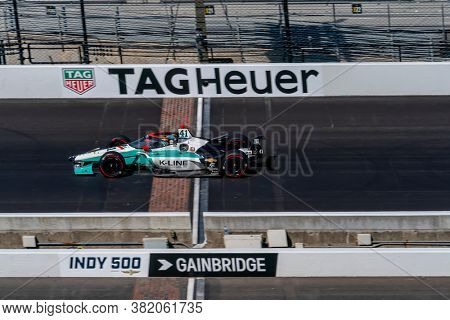 August 21, 2020 - Indianapolis, Indiana, USA: DALTON KELLETT (R) (41) of Stouffville Canada   practices for the Indianapolis 500 at the Indianapolis Motor Speedway in Indianapolis, Indiana.