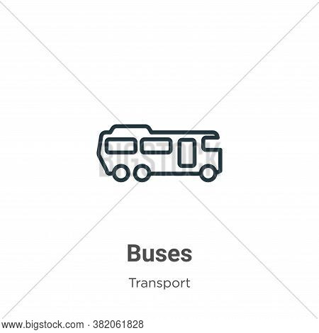 Buses icon isolated on white background from transport collection. Buses icon trendy and modern Buse