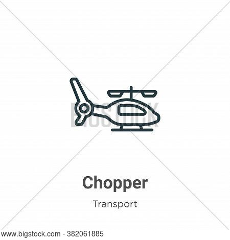 Chopper icon isolated on white background from transport collection. Chopper icon trendy and modern
