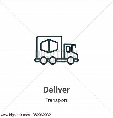 Deliver Icon From Transport Collection Isolated On White Background.