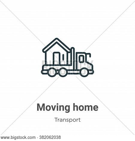 Moving home icon isolated on white background from transport collection. Moving home icon trendy and
