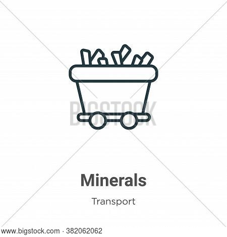 Minerals icon isolated on white background from transport collection. Minerals icon trendy and moder