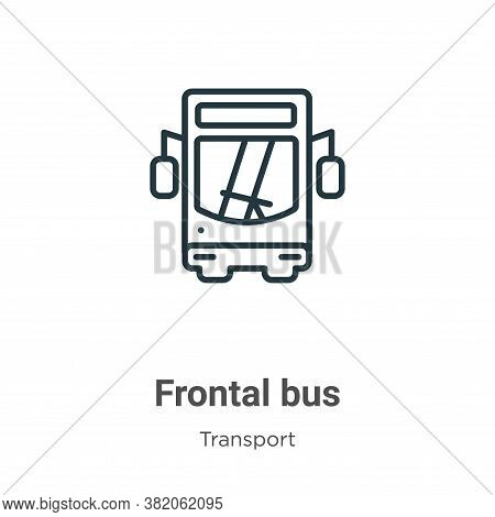 Frontal bus icon isolated on white background from transport collection. Frontal bus icon trendy and