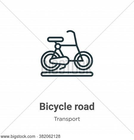 Bicycle road icon isolated on white background from transport collection. Bicycle road icon trendy a