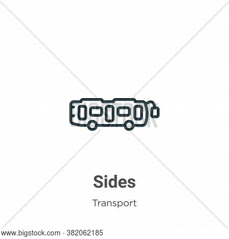 Sides icon isolated on white background from transport collection. Sides icon trendy and modern Side
