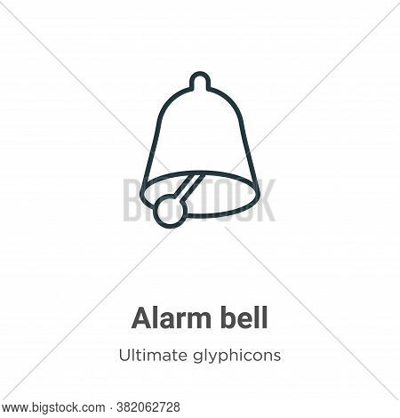 Alarm bell icon isolated on white background from ultimate glyphicons collection. Alarm bell icon tr