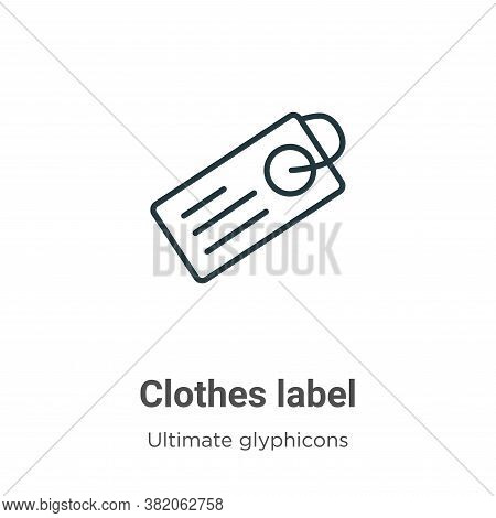 Clothes label icon isolated on white background from ultimate glyphicons collection. Clothes label i