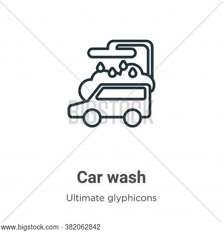 Car wash icon isolated on white background from ultimate glyphicons collection. Car wash icon trendy