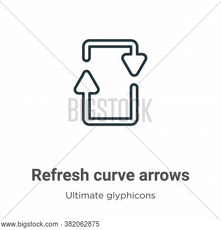 Refresh curve arrows icon isolated on white background from ultimate glyphicons collection. Refresh