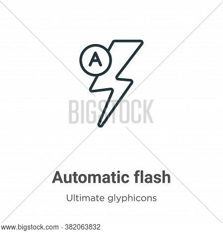 Automatic flash icon isolated on white background from ultimate glyphicons collection. Automatic fla