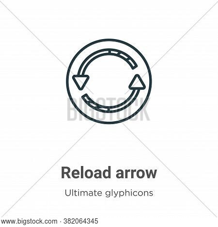 Reload arrow icon isolated on white background from ultimate glyphicons collection. Reload arrow ico