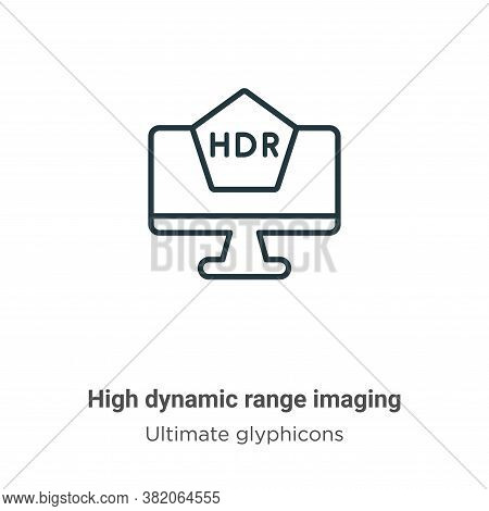 High dynamic range imaging icon isolated on white background from ultimate glyphicons collection. Hi