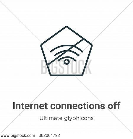 Internet connections off icon isolated on white background from ultimate glyphicons collection. Inte