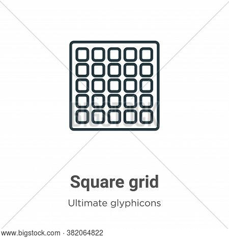 Square grid icon isolated on white background from ultimate glyphicons collection. Square grid icon